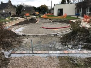 Rochefort en Terre - Réfection du jardin de la maison de retraite